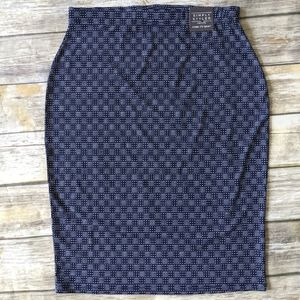 Simply Styled Core ITY Skirt Navy Print Med Petite